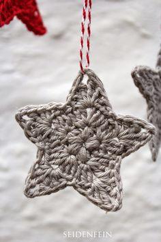 seidenfeins Blog vom schönen Landleben: 11 ✰ Sternchen-Anhänger * DIY * crochet some stars