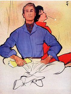 René Gruau 1956 Men's Fashion