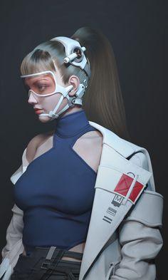 New hair drawing simple anime art Ideas Mode Cyberpunk, Cyberpunk Girl, Cyberpunk Aesthetic, Cyberpunk Fashion, Steampunk Fashion, Gothic Fashion, Cyberpunk Clothes, Character Concept, Character Art