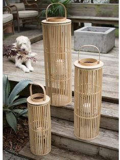Light the way all summer with these natural bamboo lanterns. Perfect for a backyard party or cookout, these will surely make a statement after sunset… and they are priced great. Solar Lanterns, Candle Lanterns, Tabletop Shop, Tea Candles, Lantern Candle Holders, Rattan Basket, Tea Lights, Fairy Lights, Pottery Barn