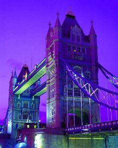 The Tower Bridge at Night, London, England... What a Beautiful Lights!