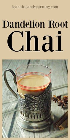 Dandelion root chai is a delicious way to get all the health benefits of dandelion and some amazing spices, without all that caffeine! I would sub the milk for coconut milk to keep it plant based. Kombucha, Tea Recipes, Real Food Recipes, Recipies, Dandelion Recipes, Dandelion Benefits, Plats Healthy, Wild Edibles, Gourmet