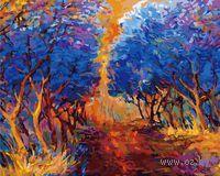 Картина по номерам `Осенний лес` (400х500 мм)