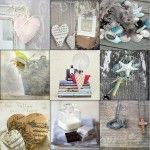 Vintage Heart Canvas {70x70x3cm}