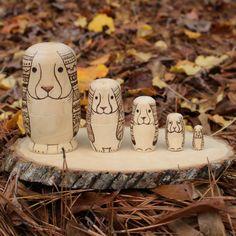 LIMITED EDITION: Rabbit nesting dollsBunny Nesting dolls