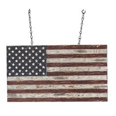 Distressed Brown US Flag Replacement- Hanging (arrow sold separately)