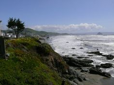 Cayucos Coast Line --- just down the road from Moro Bay. See the Rock in the distance?