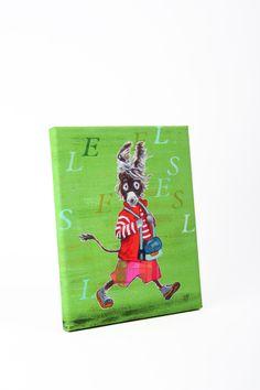 "Leinwanddruck "" Flinker Esel"" von Tizia Hula auf DaWanda.com Hula, Cover, Illustration, Books, Art, Donkeys, Heroes, Printing, Canvas"
