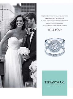 """Oh!  Sweet love!!! """"Will you"""" , la nouvelle campagne de Tiffany & Co http://journalduluxe.fr/tiffany-will-you/"""