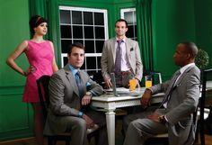 Canali, and Hickey Freeman suits.  Zenga ties, Eton shirts.