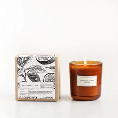 Brooklyn Candle Co – Amber Glass Candle – Japanese Citrus – Soy Candles İdeas Candle Box, Glass Candle, Candle Jars, Soy Wax Candles, Diy Candles, Scented Candles, Yankee Candles, Homemade Candles, Candle Packaging