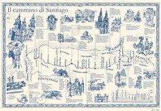 Michele Tranquillini - Map of El Camino Santiago de Compostela