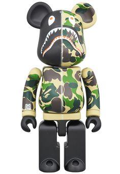 A Bathing Ape x Medicom Toy Bape Camo Shark chogokin be Vinyl Figures, Action Figures, A Bathing Ape, Eye For Detail, Italian Artist, Designer Toys, Bape, Hypebeast, Shark