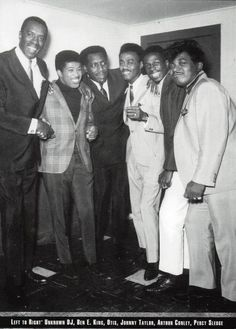"princearnold: "" Legendary Soul Singers Ben E. King, Otis Redding, Johnnie Taylor, Arthur Conley and Percy Sledge. (photo courtesy of The National R&B Music Society). """