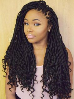 Faux Locs With Undone Ends