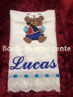#bordadointeligente #bordadocomputadorizado #embroidery #bordado #personalized #personalizado #baby #nautical #navy #bear
