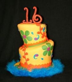 !6th Birthday Cake by Whimsy Cakes. All rights reserved.
