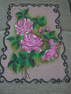Tapete emborrachado(pintura em tecido)