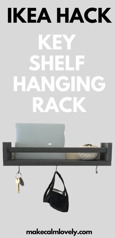 IKEA Hack Key Shelf Hanging Rack
