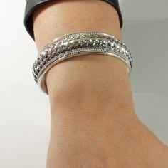 Bracelete Trançado Envelhecido.  #pratafina #bracelete #moda