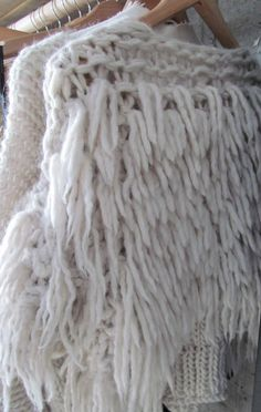 I've really been liking furry textured knits lately. I wonder if I could modify a regular sweater by using some wool and a rug hooker Knitwear Fashion, Knit Fashion, Angora, Mode Inspiration, Mode Style, Missoni, Fashion Details, Hand Knitting, Knit Crochet