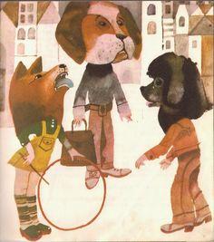 Illustration by Zbigniew Rychlicki, Title: Bajki z zaczarowanego rękawa, Author: Oldrich Syrovatka Children's Books, Canvases, Ephemera, Polish, Illustrations, Poster, Pictures, Painting, Books