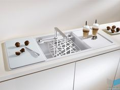 Silgranit Puradur II Outstanding ease of care Superior durability and Patented hygiene protection Formula. Blanco By Hafele Kitchen Sink Faucets, Kitchen Fixtures, Sink Inspiration, Stainless Sink, Glass Cutting Board, Living Room Carpet, Space Saving, Countertops, Kitchen Design