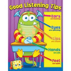 Good listening Skills Classroom Posters for social skills