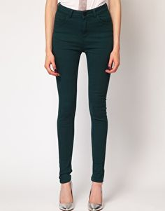 Forest green jeans from ASOS
