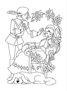 Fairy tales and stories: coloring pages and coloring pages by heimwerker. Coloring Pages For Grown Ups, Coloring Pages For Kids, Coloring Books, Free Printable Coloring Pages, Free Coloring Pages, Hand Embroidery Patterns, Disney Cartoons, Mandala Art, Nursery Rhymes