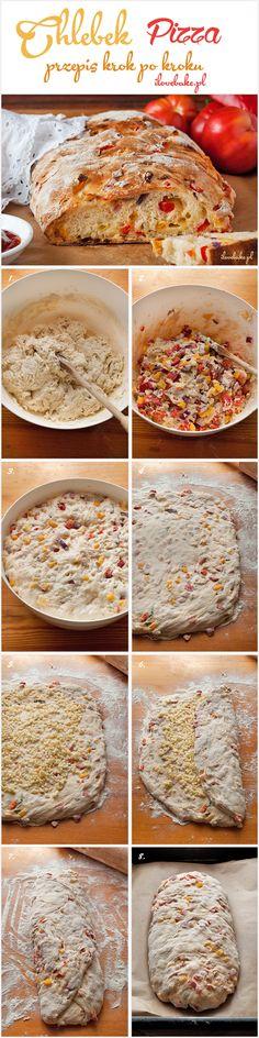 Chlebek pizza - I Love Bake Pavlova, I Love Food, Pizza, Pudding, Baking, Desserts, Coffee, Brot, Tailgate Desserts