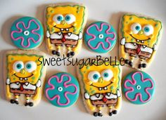 Sponge Bob sugar cookies by SweetSugarBelle