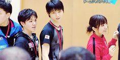 Yuzuru and Shoma doing Olympic team exercises