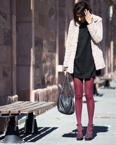 Sissy à la mode: Sandals - Naughty Monkey, Tights - Primark,  Dress - Zara, Coat - Blanco