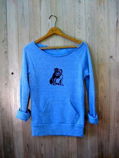 my faithful Bulldog Sweatshirt, Bulldog Sweater, Dog Shirt, S,M,L,XL. $36.00, via Etsy.