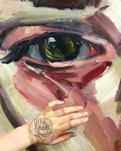 Elly Smallwood uses large brushstrokes which creates texture in her paintings. Elly Smallwood, Planes Of The Face, Close Up Art, Gcse Art, Types Of Art, Art Inspo, Design Art, Cool Art, Art Gallery