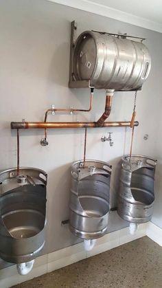 A quirky, original upcycling idea that& perfect for a rustic bar or a p . - A quirky, original upcycling idea that& perfect for a rustic bar or break … - Brewery Design, Pub Design, Restaurant Design, Restaurant Interiors, Bar Interior, Lavabo Diy, Ideas Cabaña, Pub Ideas, Decor Ideas