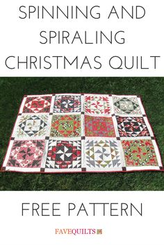 Great fat quarter quilt featuring Christmas fabric.