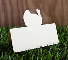 Thanksgiving Turkey Place Cards Set of 25 by tiffzippy on Etsy, $9.00
