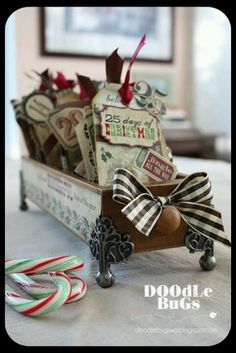 Repurposed library drawer....cute!