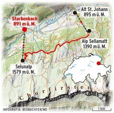 Chur, Switzerland, Hiking, Mountain, Map, Travel, Black Forest, Hiking Trails, Swiss Guard