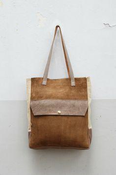 sak 8 • shopper • leather • taupe • waxed • monsak • www.monsak.nl