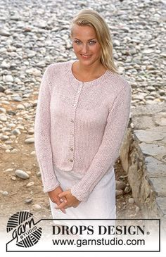 Basic patterns - Free knitting patterns and crochet patterns by DROPS Design Summer Knitting, Easy Knitting, Knitting Patterns Free, Free Pattern, Drops Design, Cardigan Design, Knit Cardigan Pattern, Cardigan Bebe, Drops Patterns