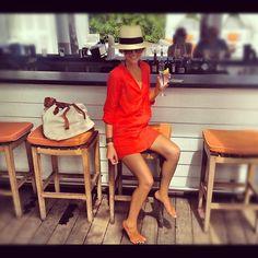 Zara Tunic + H Fedora = Miami Style