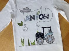"""Geburtstagsshirt """"Traktorfahrt"""" von tinybutton auf DaWanda.com"""