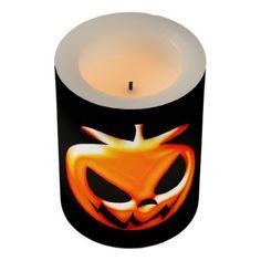 #Cute Halloween Pumpkin Flameless Candle - #Halloween #happyhalloween #festival #party #holiday