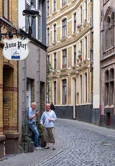 Eigelstein street in Cologne Old Town (Altstadt), Germany