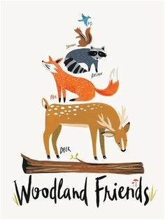 Woodland Friends     by Katie Gastley of IdlewildCo      Previous On the Wall print