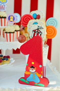 Circus party Circus Party, Birthday Candles