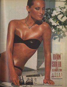 Bain De Soleil☀  Loved that orange jell! Tanned just like her!!
